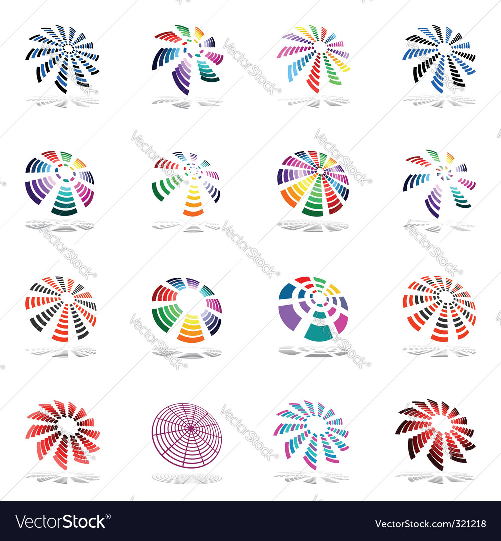 Design elements set with rotation vector | Price: 1 Credit (USD $1)