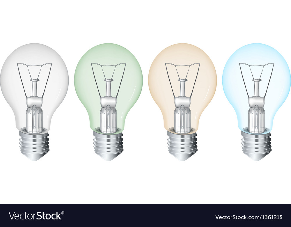 Four flourescent bulbs vector | Price: 1 Credit (USD $1)