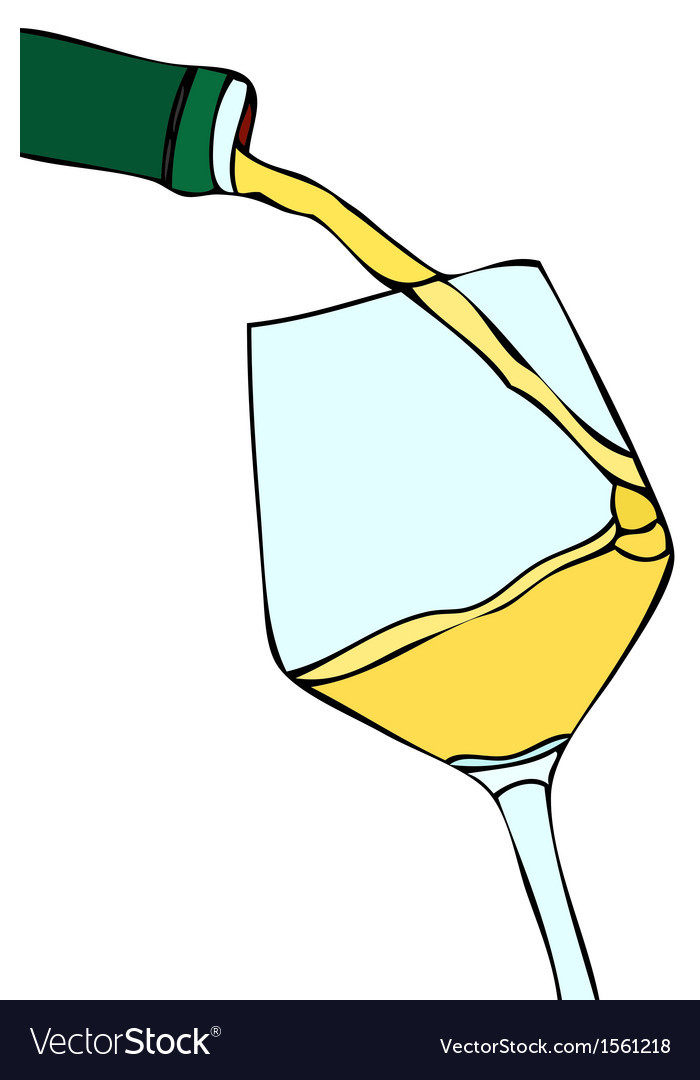 Glass of white wine vector | Price: 1 Credit (USD $1)