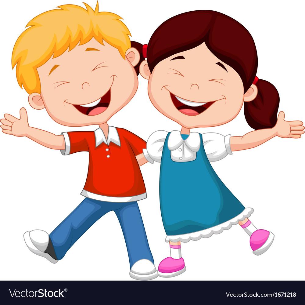 Happy children cartoon vector | Price: 1 Credit (USD $1)