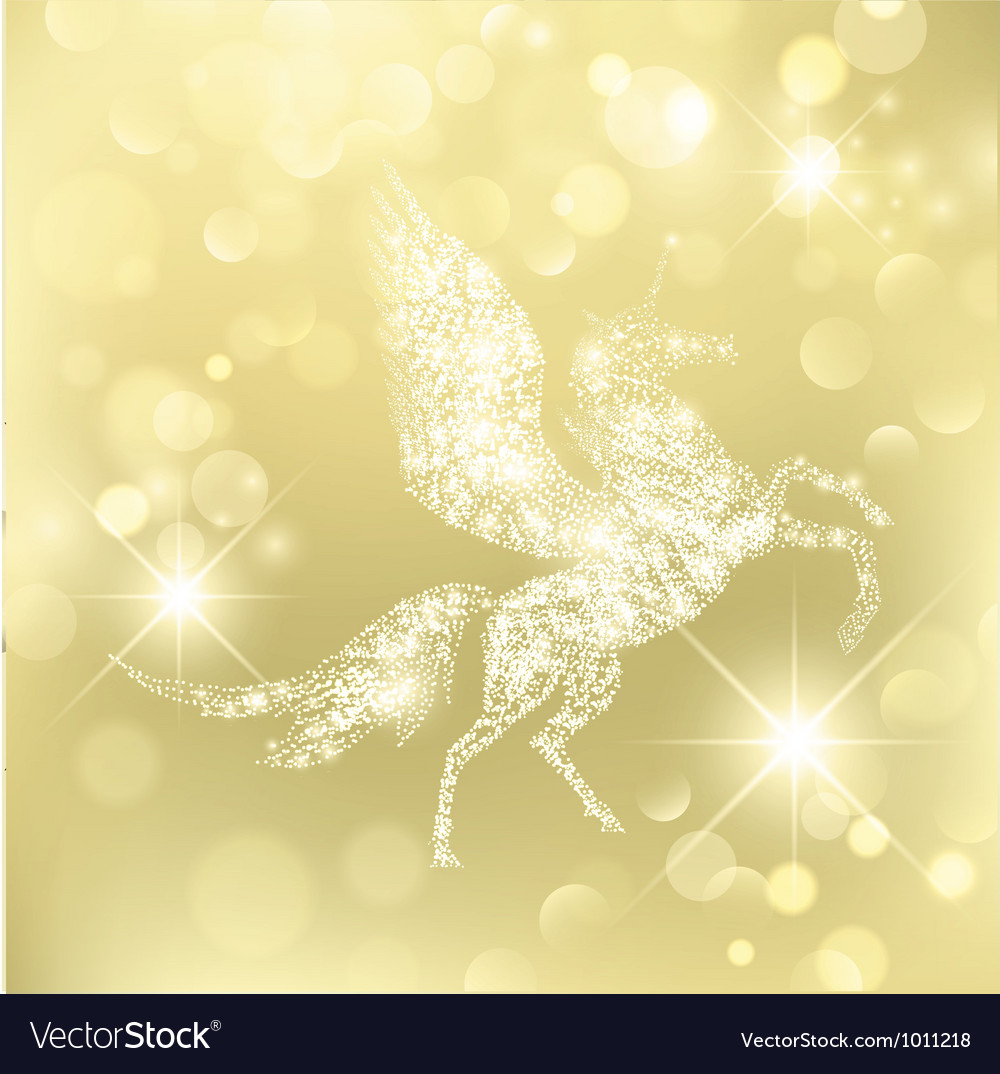 Holiday pegasus vector | Price: 1 Credit (USD $1)