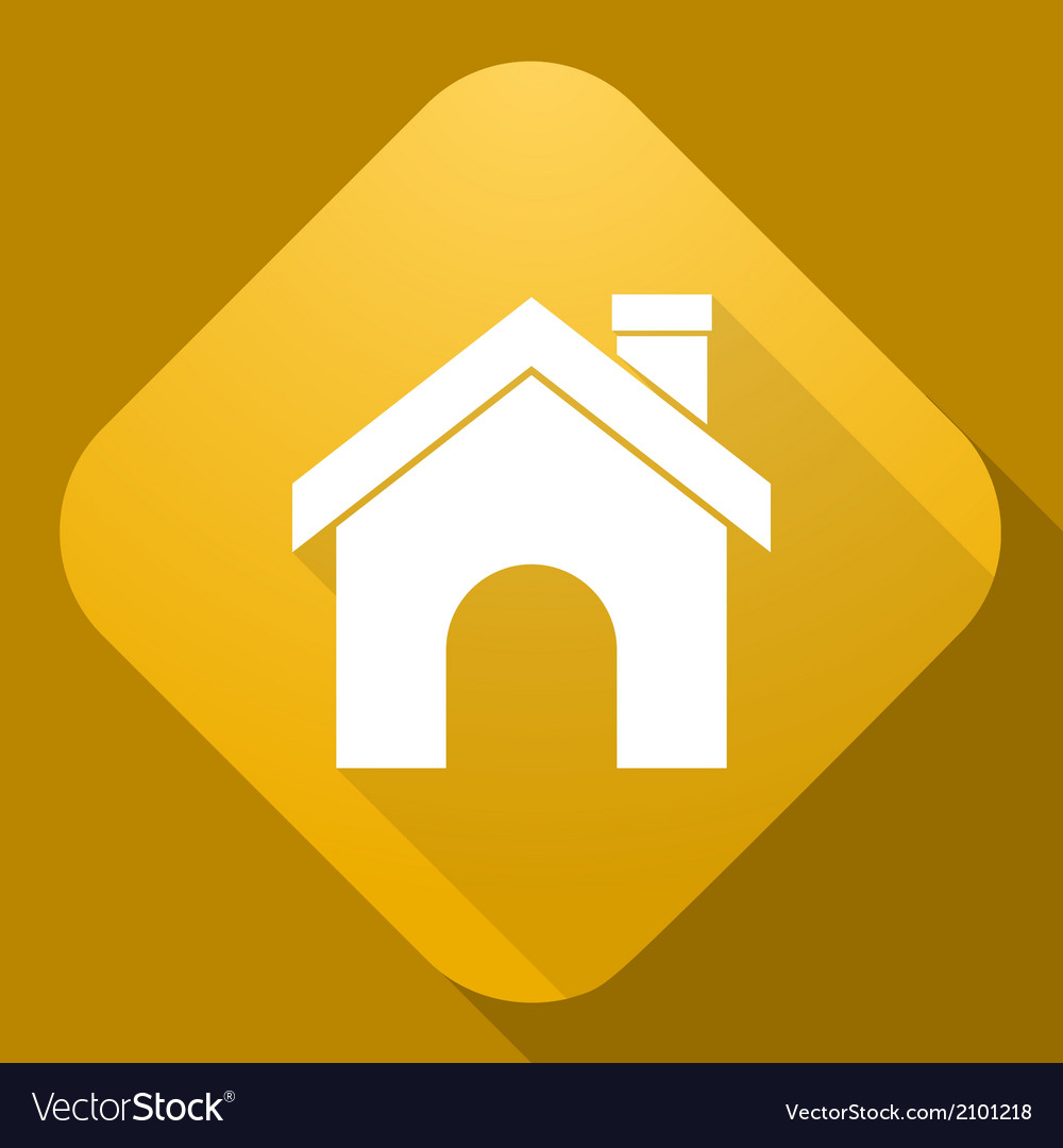 Icon of house with a long shadow vector | Price: 1 Credit (USD $1)