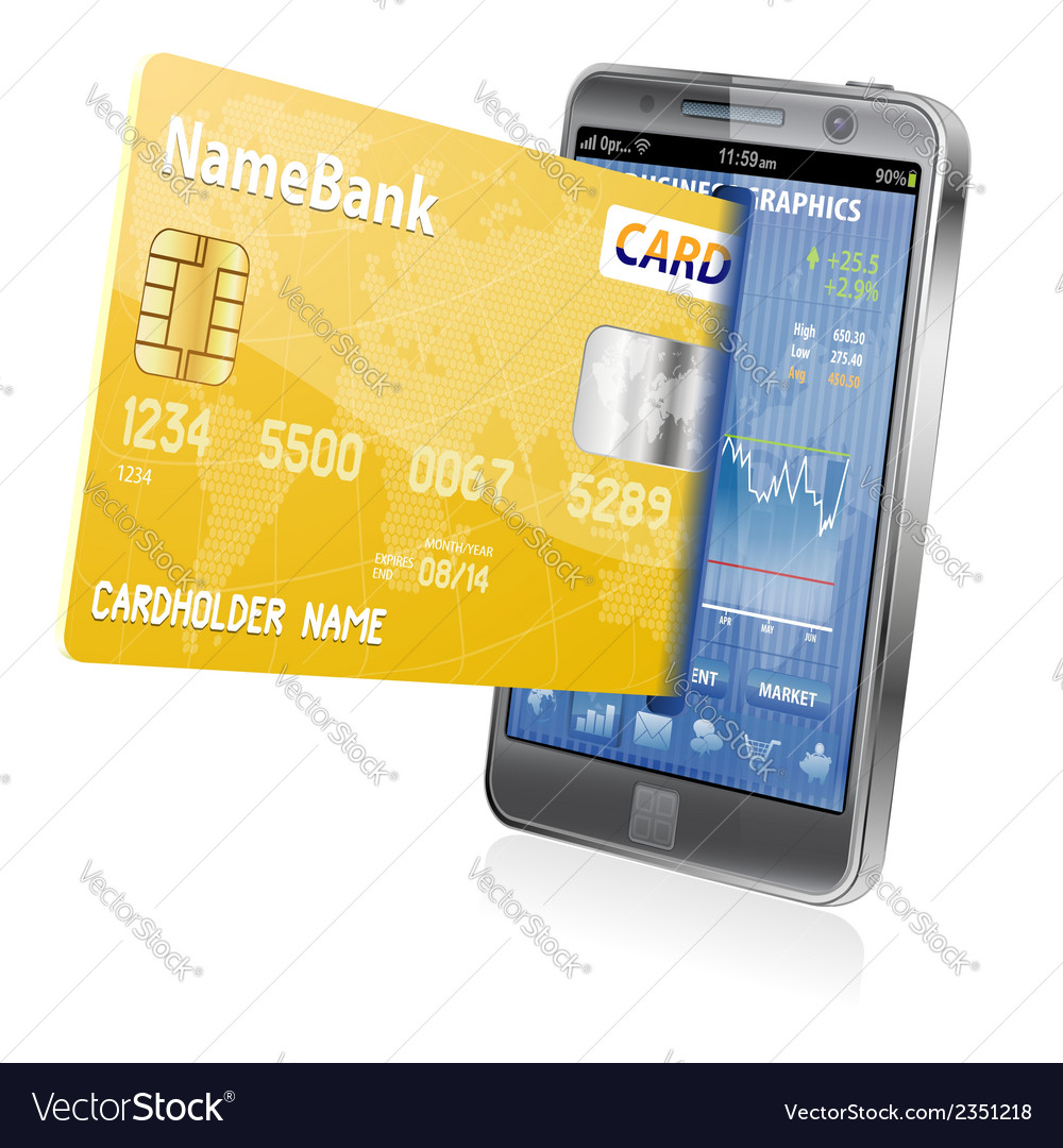 Internet shopping and electronic payments concept vector | Price: 1 Credit (USD $1)