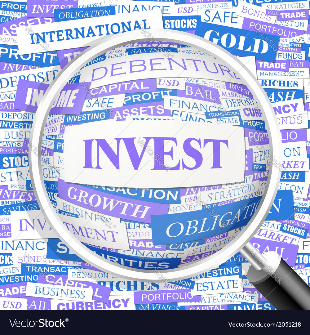 Invest vector | Price: 1 Credit (USD $1)