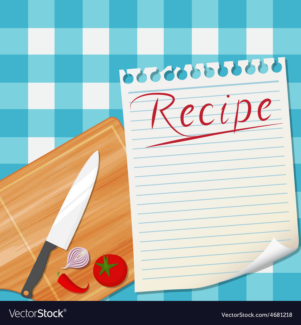 Kitchen recipe design background vector | Price: 3 Credit (USD $3)