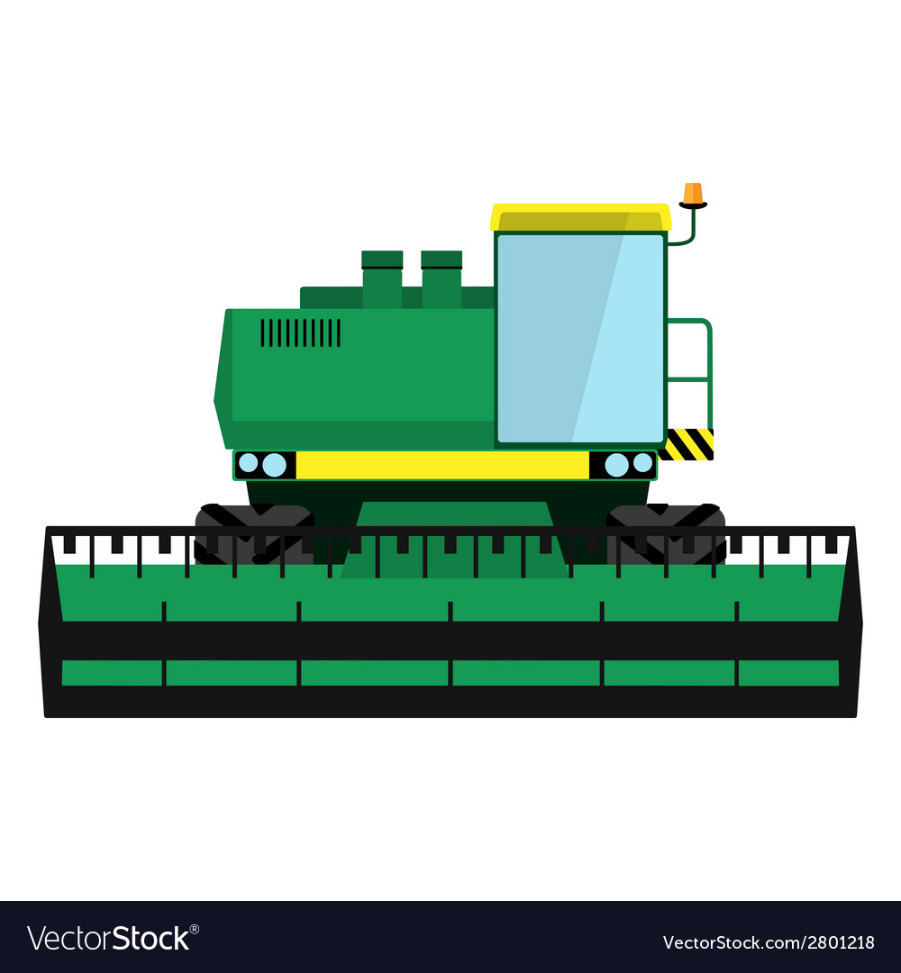 Modern green harvester vector | Price: 1 Credit (USD $1)
