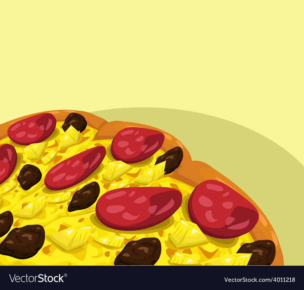 Pizza with sausage banner vector | Price: 1 Credit (USD $1)