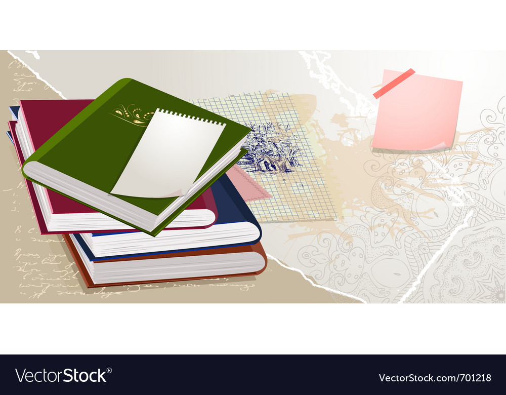 Scrapbook collection of books vector | Price: 1 Credit (USD $1)