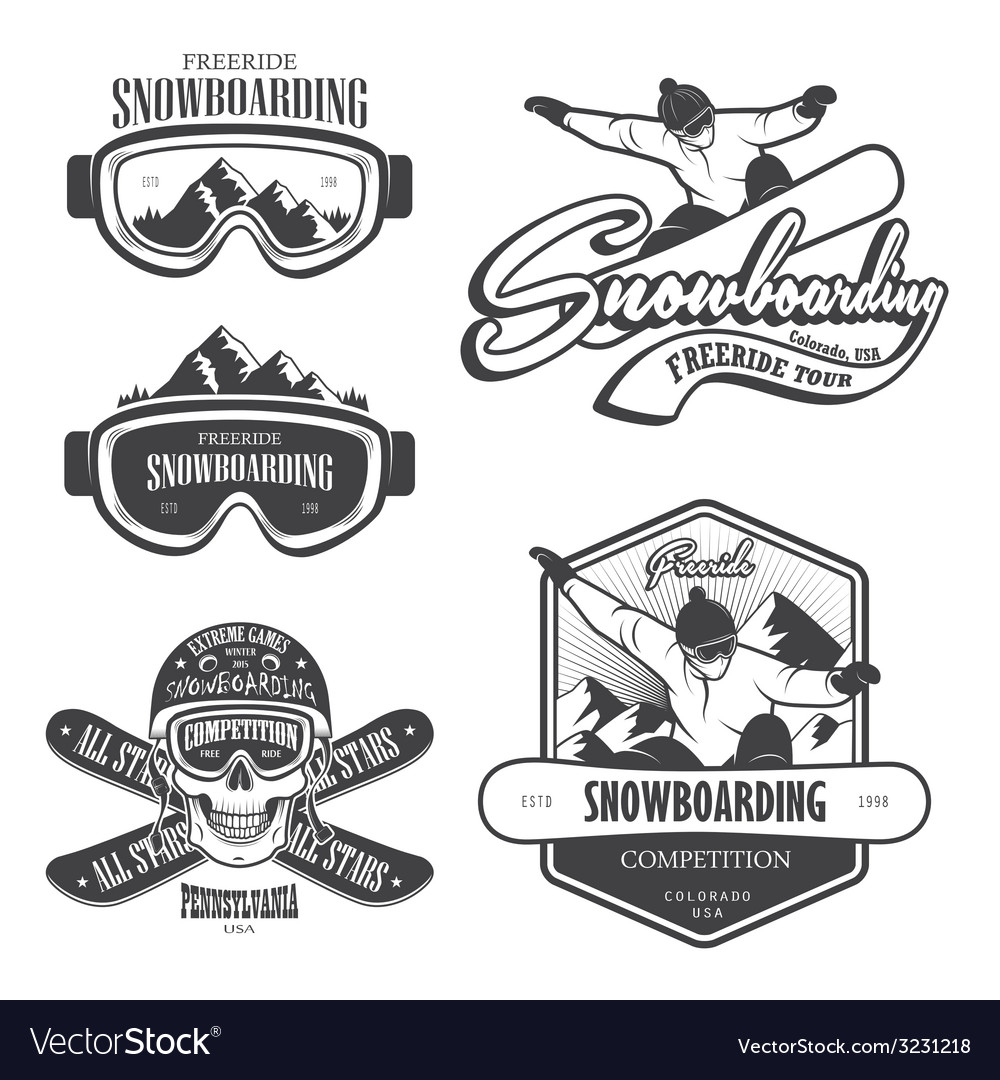 Snowboard 2 vector | Price: 1 Credit (USD $1)