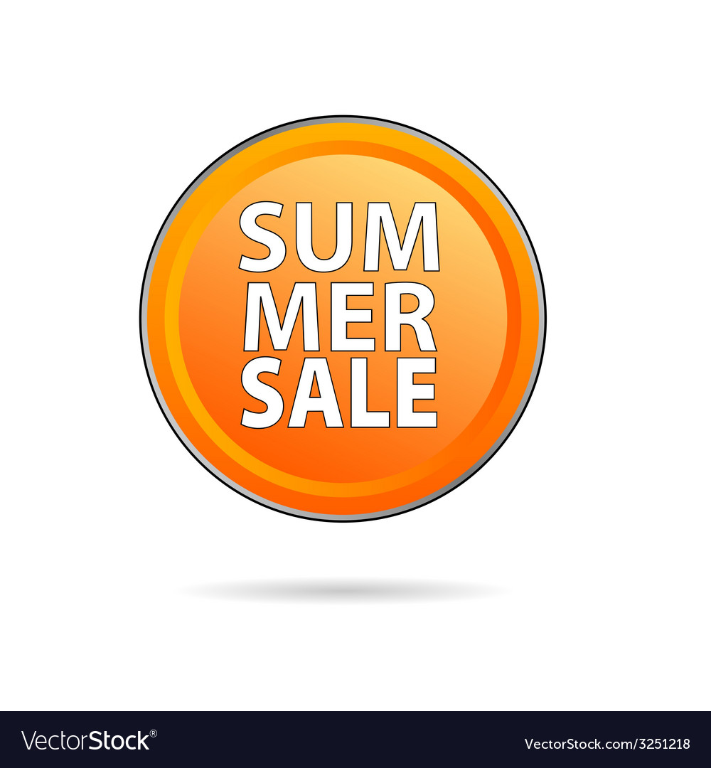 Summer sale icon vector | Price: 1 Credit (USD $1)