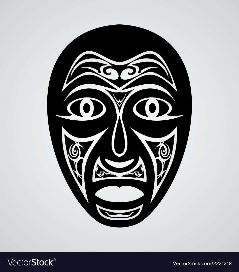 Tribal traditional mask vector   Price: 1 Credit (USD $1)