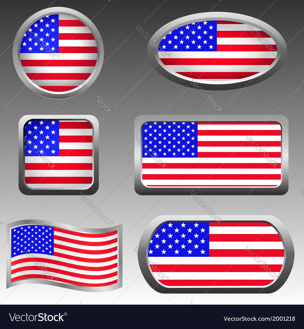 Usa icons vector   Price: 1 Credit (USD $1)