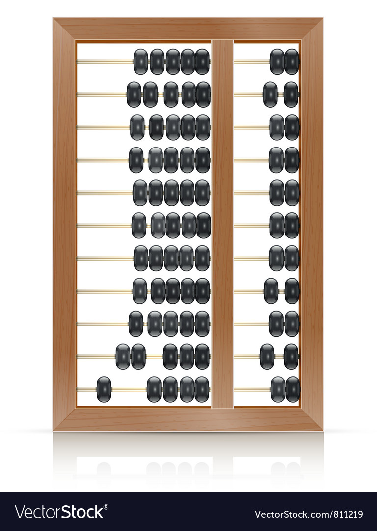 Chinese vintage wooden abacus vector | Price: 1 Credit (USD $1)