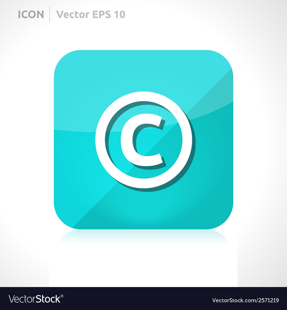 Copyright icon vector | Price: 1 Credit (USD $1)