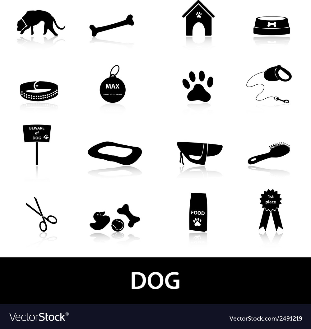 Dog icons set eps10 vector | Price: 1 Credit (USD $1)