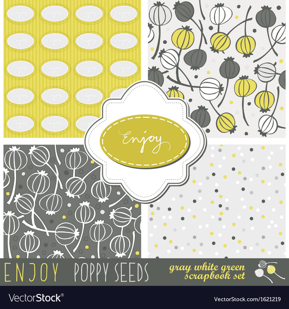Enjoy flowers paper set vector | Price: 1 Credit (USD $1)