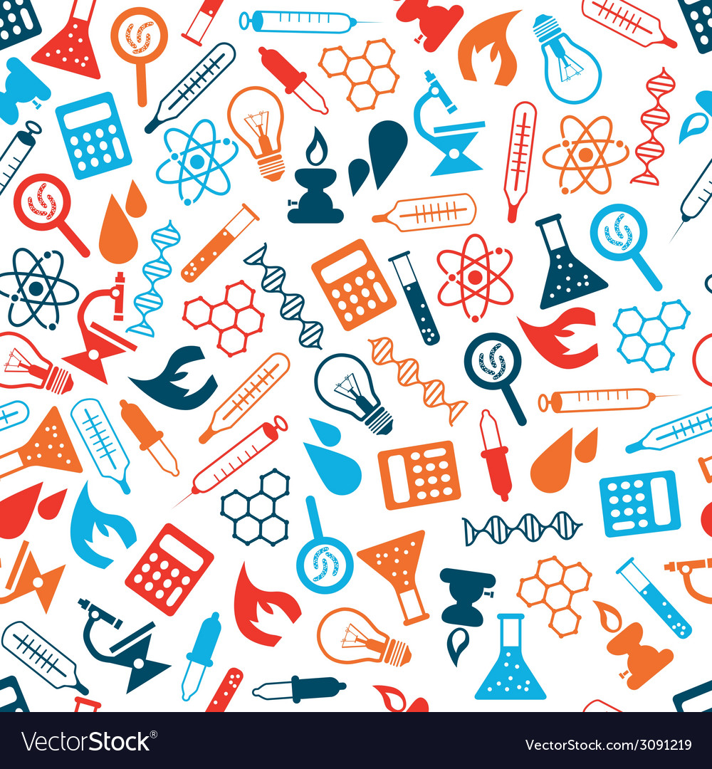 Laboratory seamless pattern vector | Price: 1 Credit (USD $1)