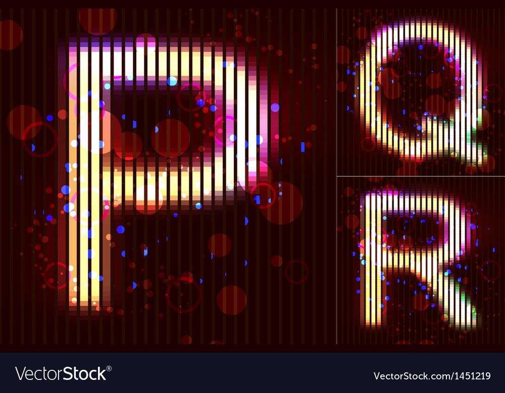 Neon light alphabet - pqr vector   Price: 1 Credit (USD $1)