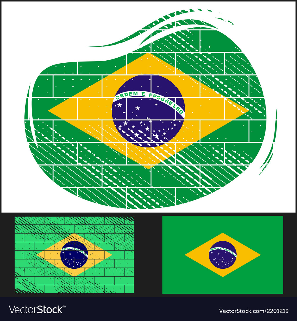Scratched flag of brazil vector | Price: 3 Credit (USD $3)