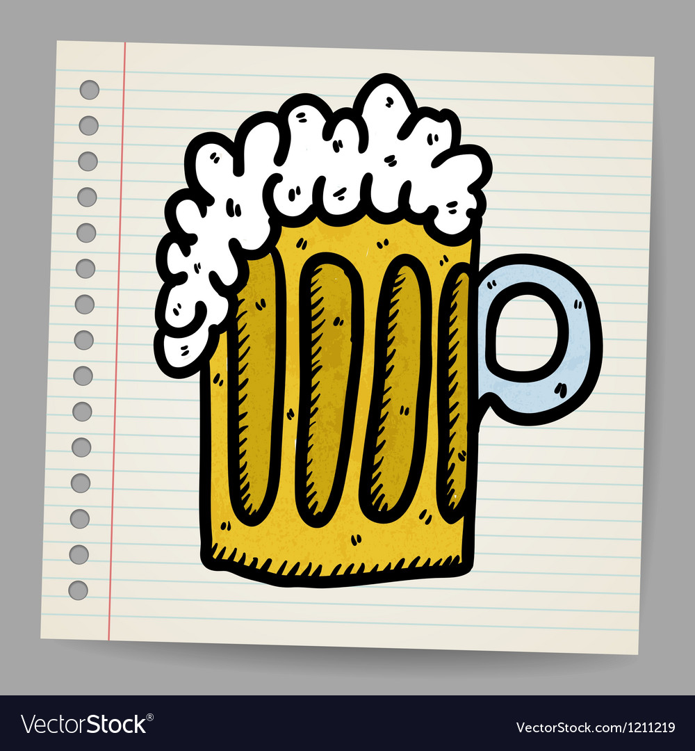 Scribble beer mug vector | Price: 1 Credit (USD $1)