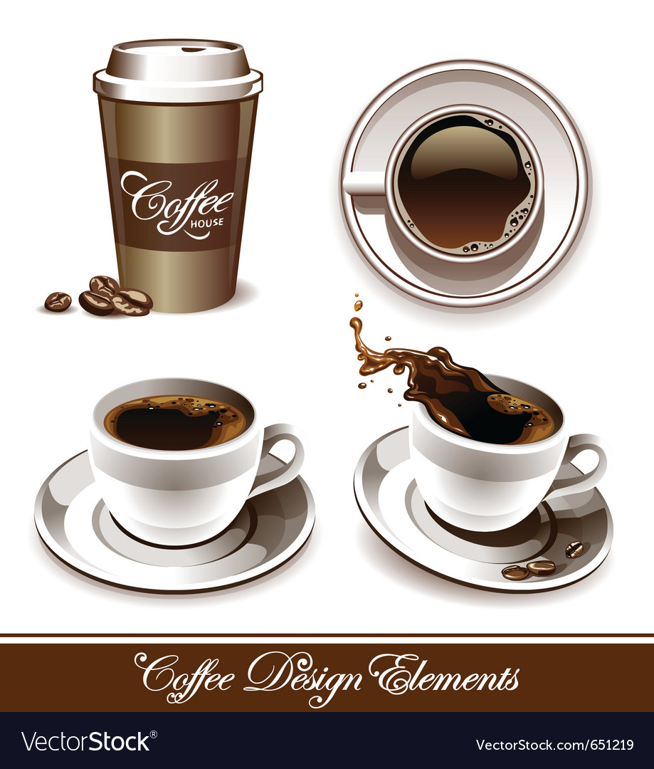 Set of coffee cup vector | Price: 3 Credit (USD $3)