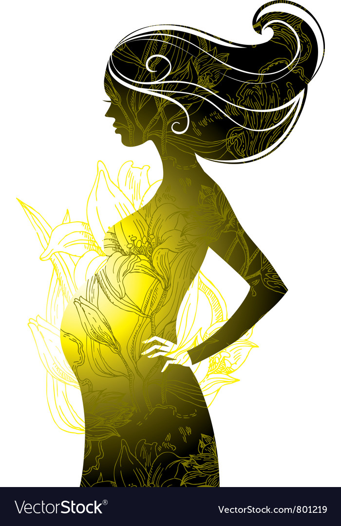 Silhouette of pregnant woman vector   Price: 1 Credit (USD $1)