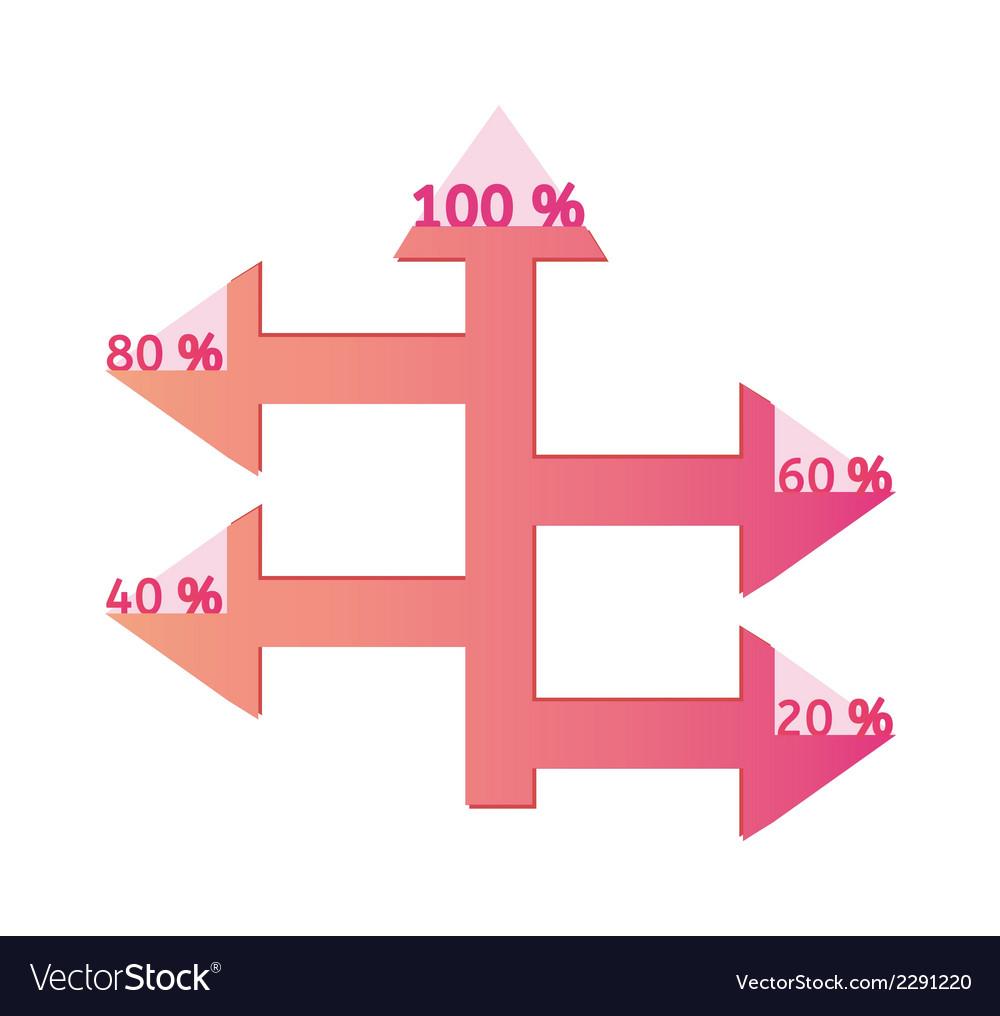 Arrows with percentage vector | Price: 1 Credit (USD $1)
