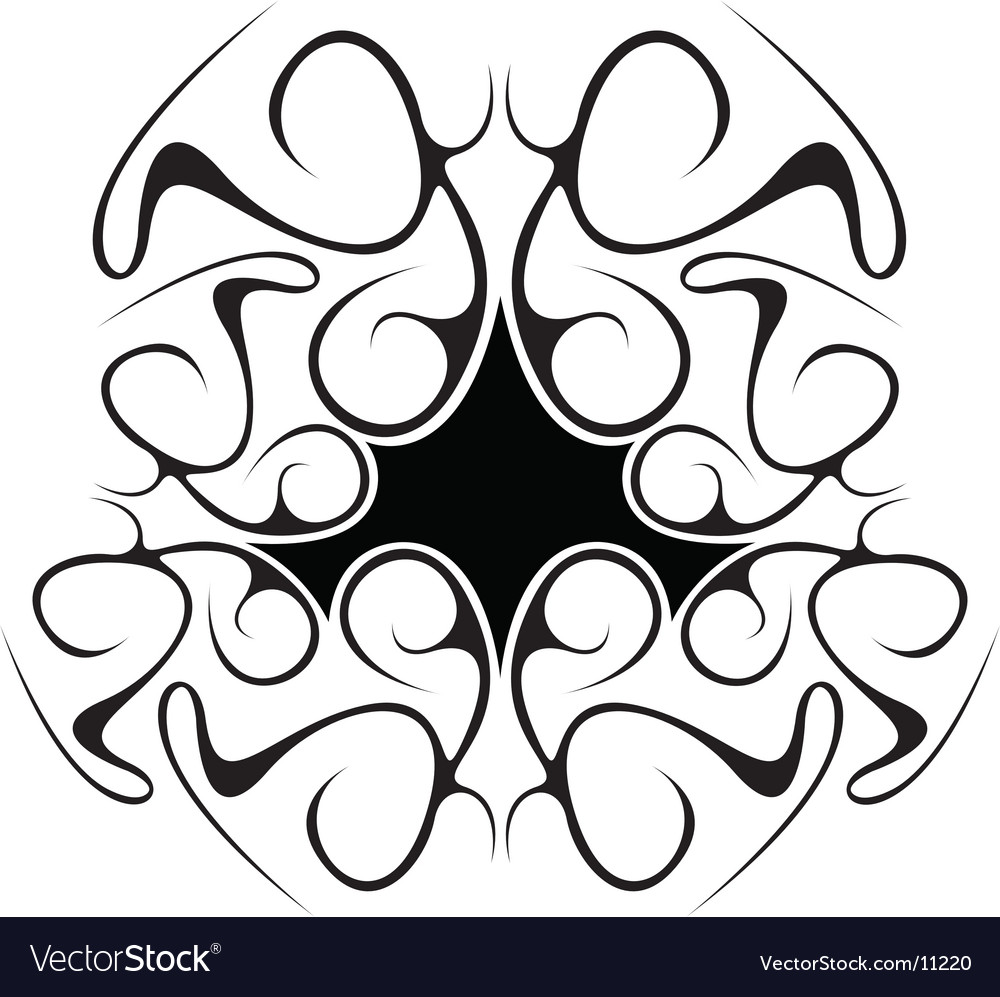 Black abstract tribal design vector | Price: 1 Credit (USD $1)
