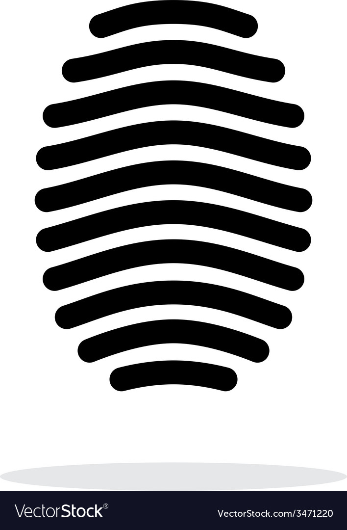 Fingerprint arch type icon on white background vector   Price: 1 Credit (USD $1)