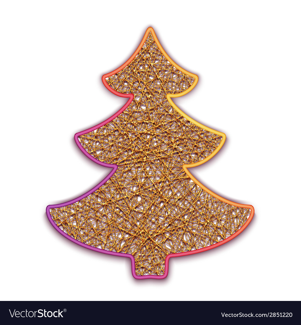 Fir-tree embroidered on cardboard vector | Price: 1 Credit (USD $1)