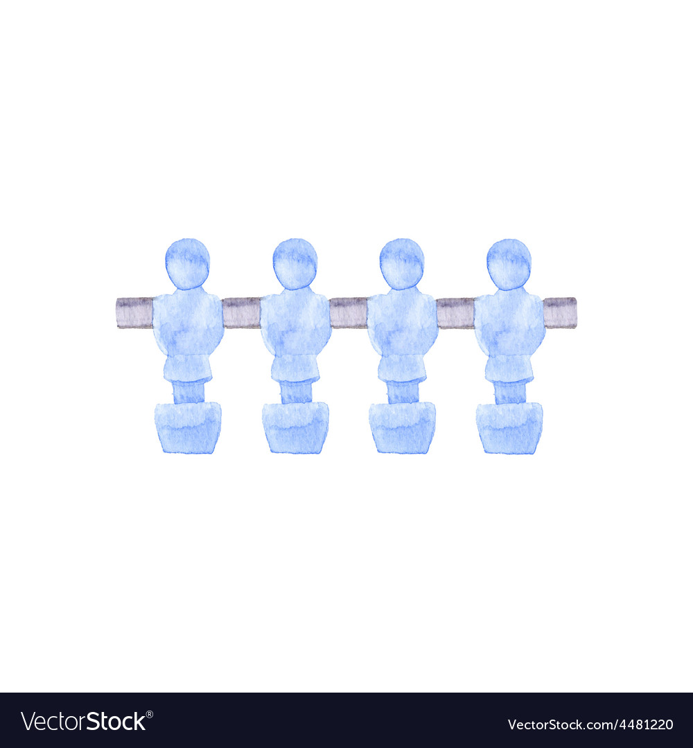 Foosball players watercolor object on the white vector | Price: 1 Credit (USD $1)
