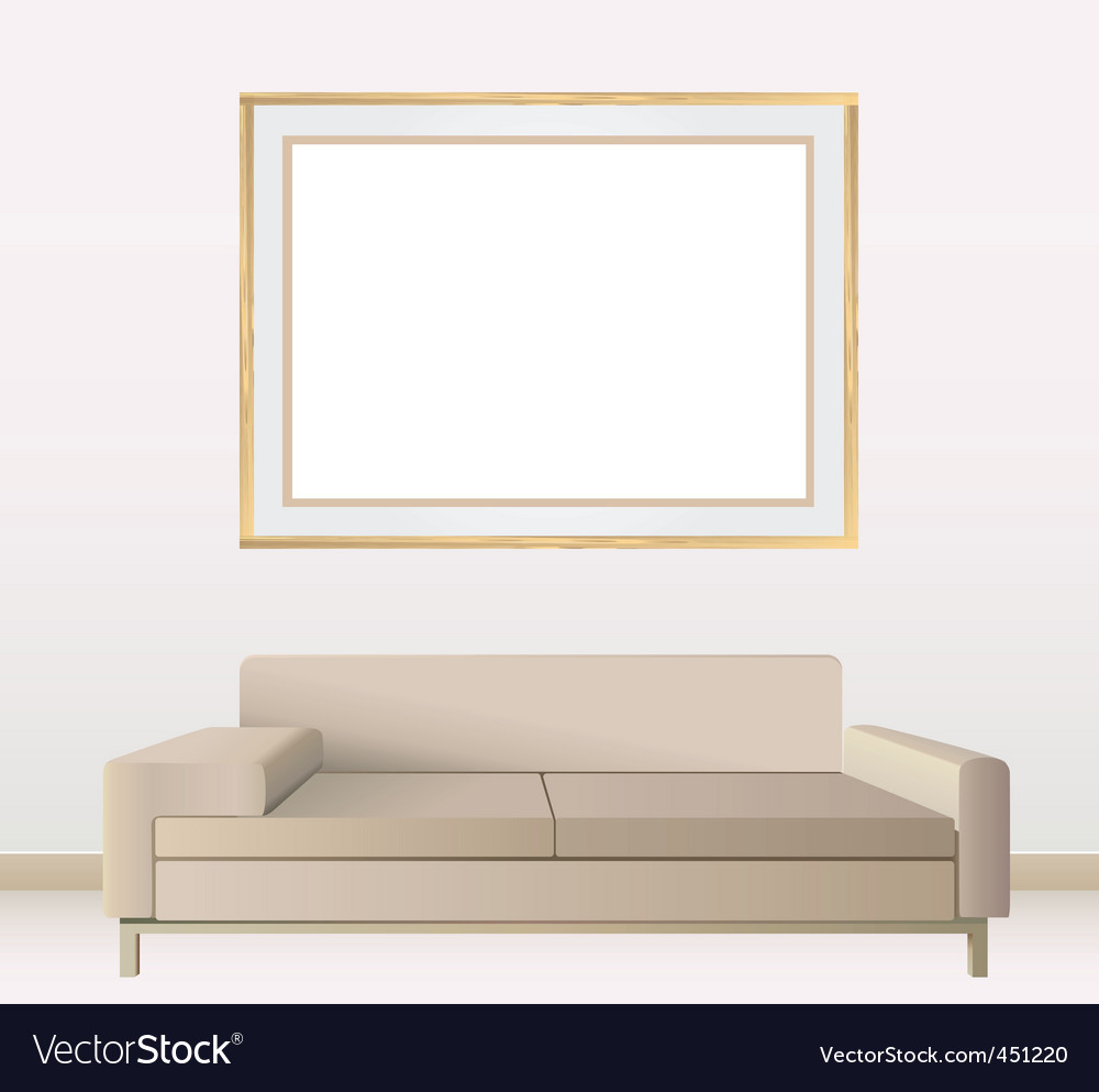 Frames on wall vector | Price: 1 Credit (USD $1)