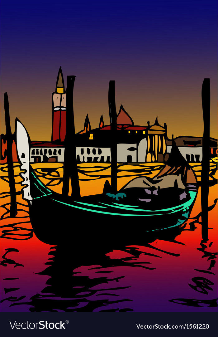 Gondola a san marco vector | Price: 1 Credit (USD $1)