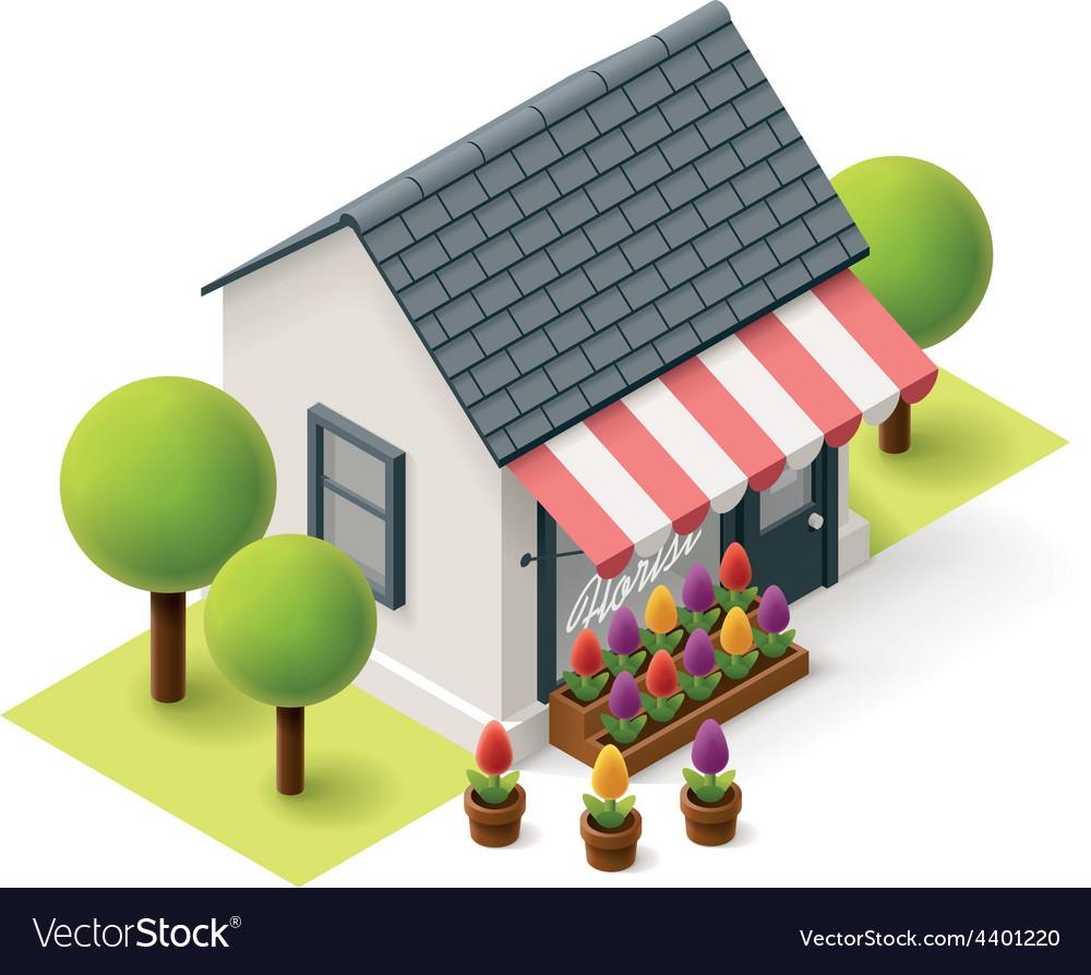 Isometric florist shop vector   Price: 3 Credit (USD $3)