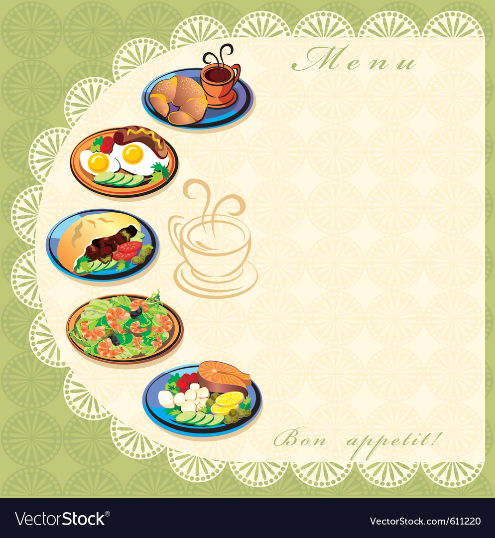 Menu template vector | Price: 3 Credit (USD $3)