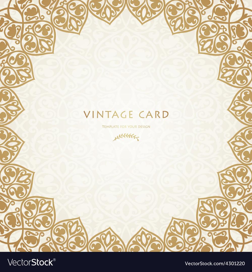 Round gold luxury style border vector | Price: 1 Credit (USD $1)