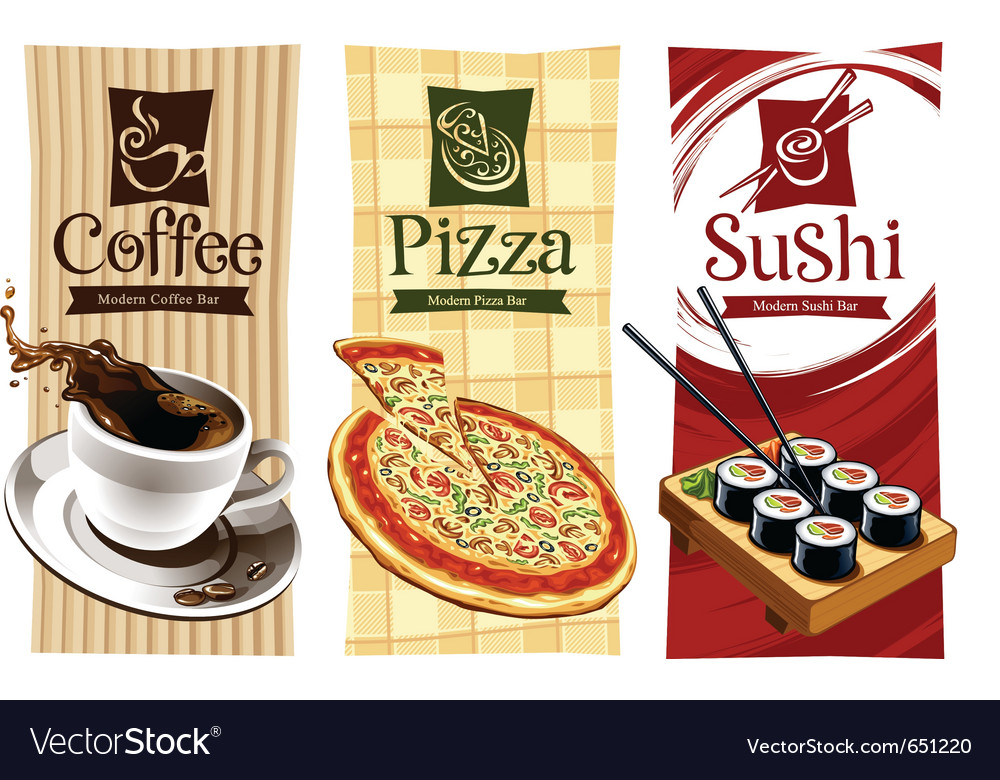 Template designs of food banners vector | Price: 3 Credit (USD $3)
