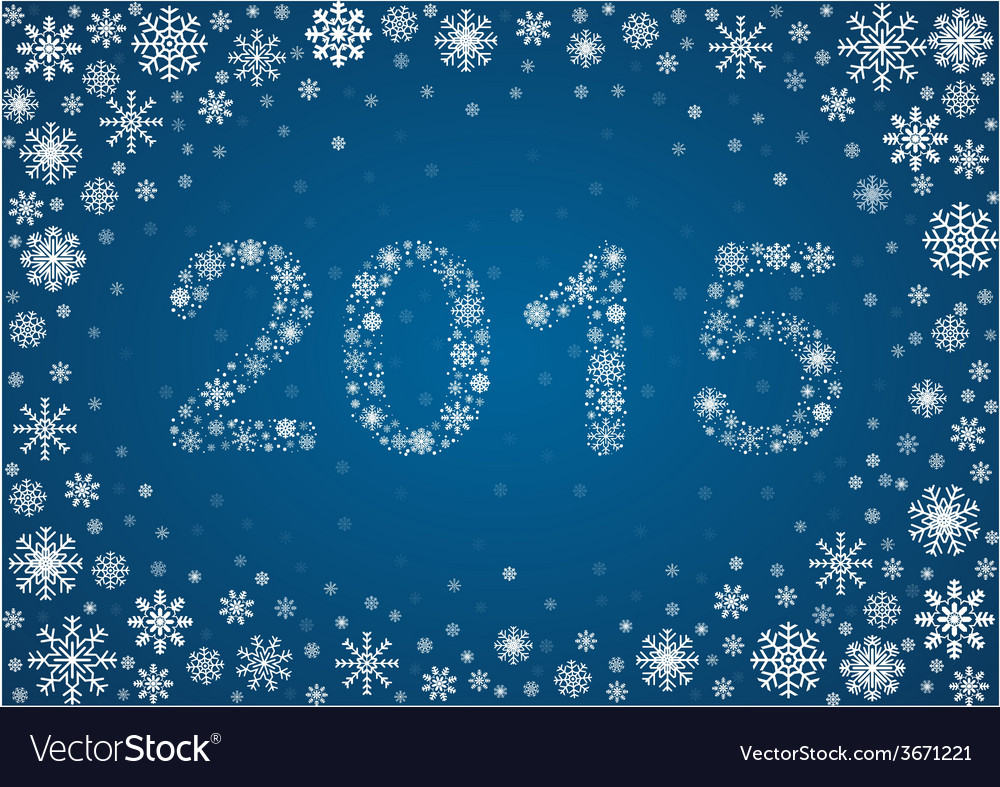 2015 title from snowflakes vector | Price: 1 Credit (USD $1)
