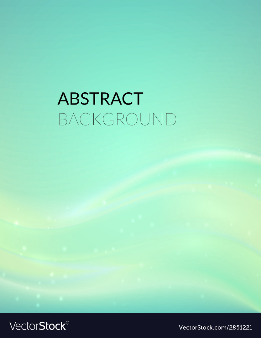 Abstract cyan background with smooth lines vector | Price: 1 Credit (USD $1)