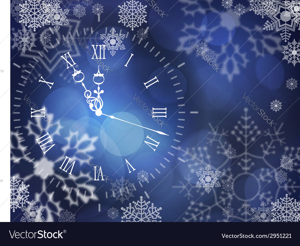 Christmas clock vector | Price: 1 Credit (USD $1)