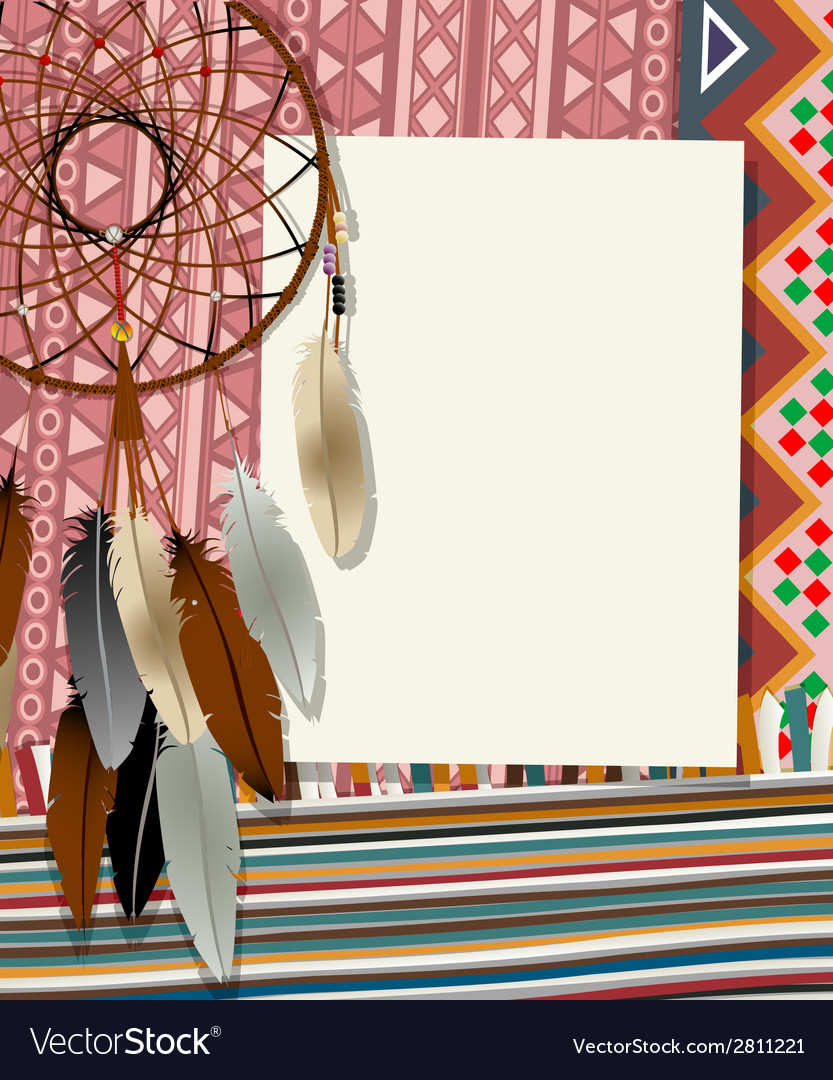 Dream catcher card 4 vector | Price: 1 Credit (USD $1)