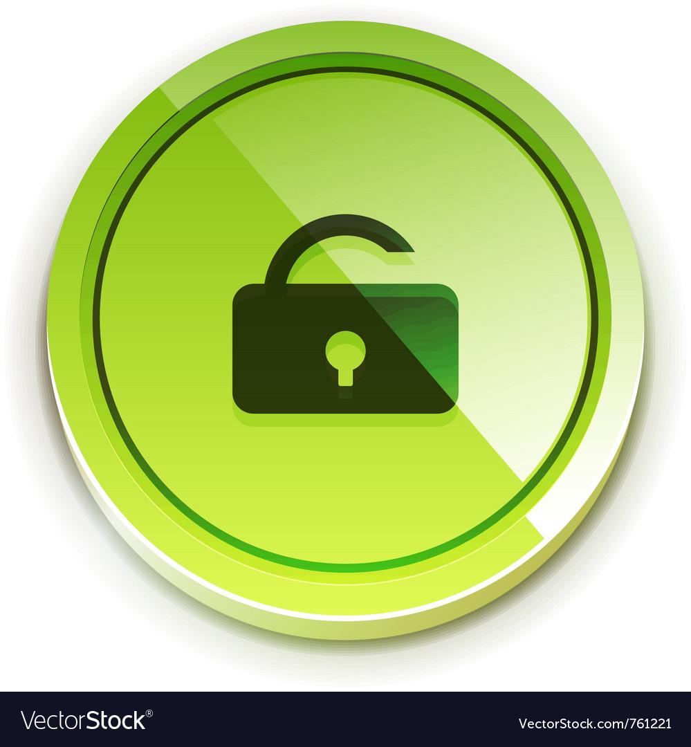 Glossy bright unlock button vector   Price: 1 Credit (USD $1)