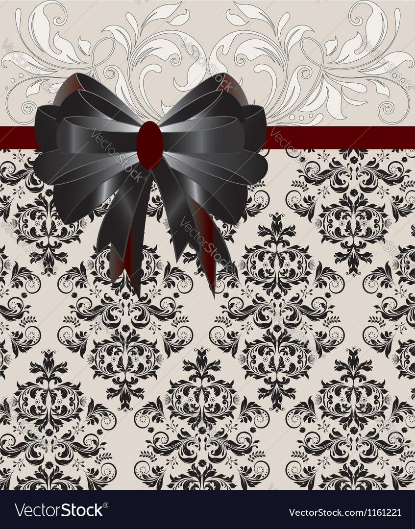 Invitation card on floral background vector | Price: 1 Credit (USD $1)