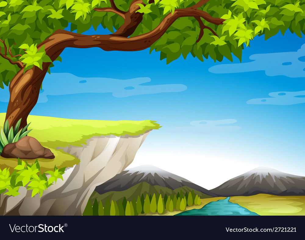 Mountains and trees vector | Price: 3 Credit (USD $3)
