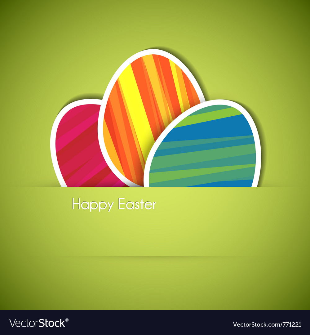Paper card eggs vector | Price: 1 Credit (USD $1)