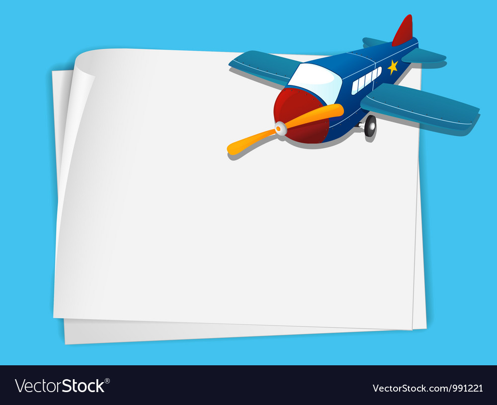 Plane paper copyspace vector | Price: 1 Credit (USD $1)