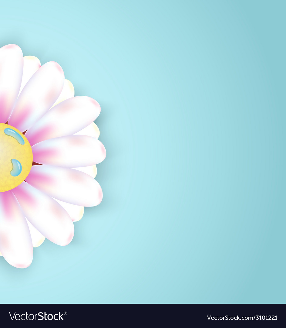 Spring abstract floral background with flower vector | Price: 1 Credit (USD $1)