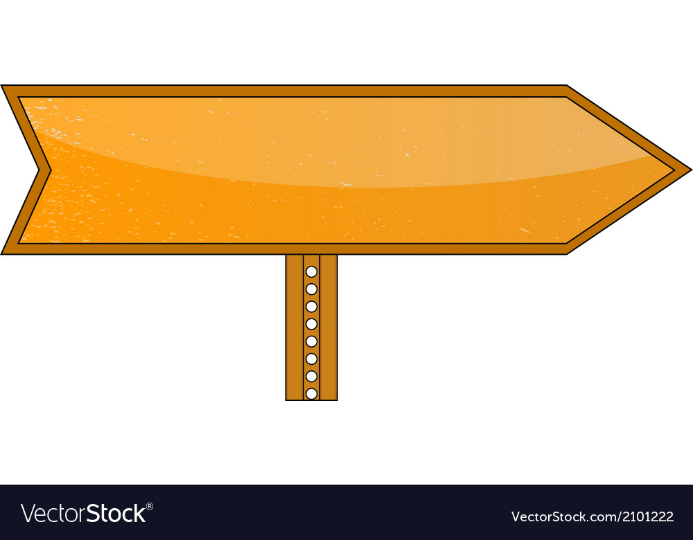 Blank orange road sign vector | Price: 1 Credit (USD $1)