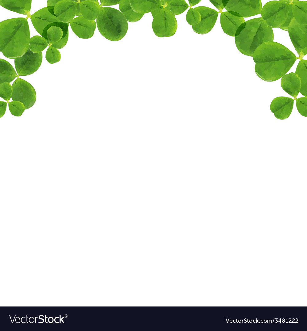 Border with leaves vector | Price: 1 Credit (USD $1)