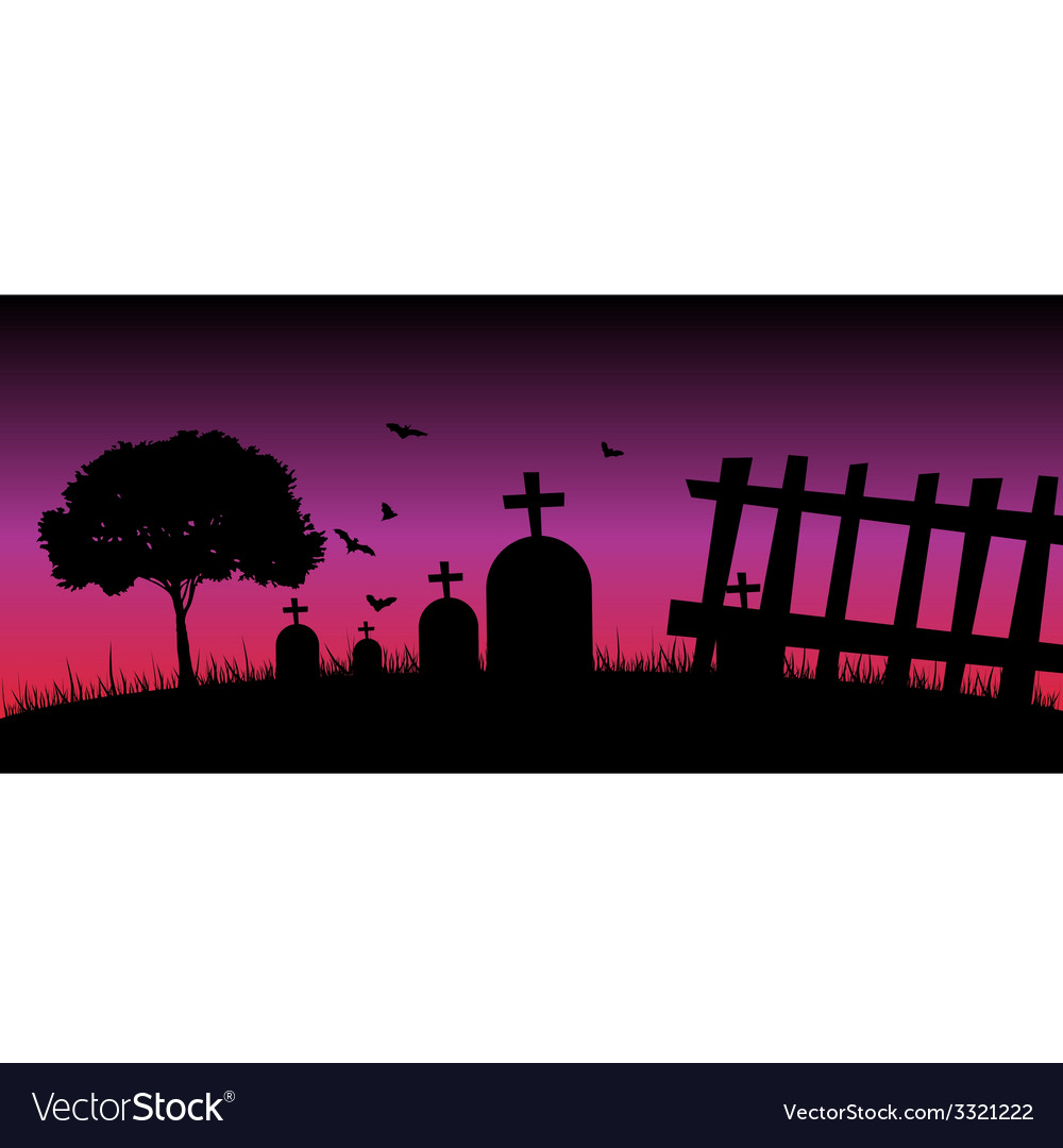 Cementery in the nature color vector | Price: 1 Credit (USD $1)
